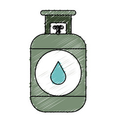 Propane gas tank icon vector