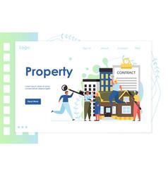 property website landing page design vector image