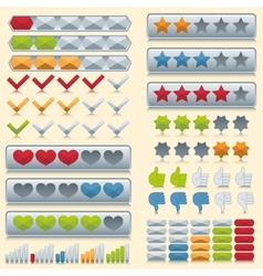 Rating icons set vector image