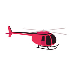 red helicopter icon vector image