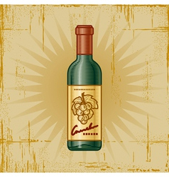 Retro Wine Bottle vector image