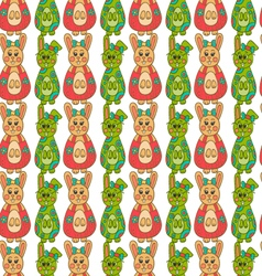 Seamless pattern with Easter bunny-12 vector image