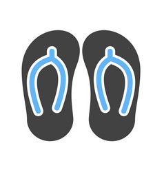 Slippers summer footwear vector