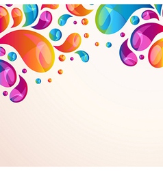 Splash background cover template vector image