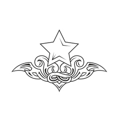Star tattoo vector image