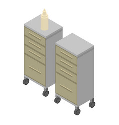 Surgery furniture icon isometric style vector