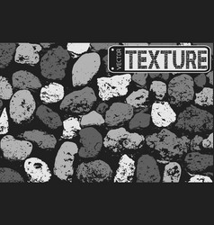 Texture of black and white stone coquina wall in vector