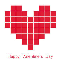 Valentine day square in heart image vector