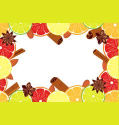 Vegan day colorfull poster fruit citrus background vector