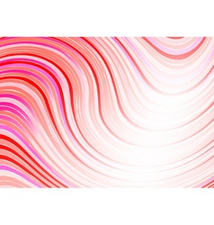 Wavy abstract background in red color vector