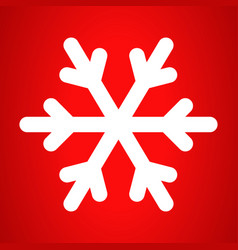winter snowflake icon outline style vector image