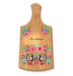 wooden utensil4 vector image