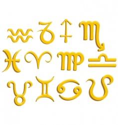 zodiac gold vector image