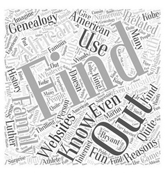african american genealogy Word Cloud Concept vector image vector image