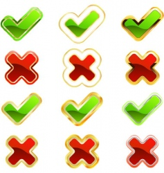 approved and rejected icon set vector image