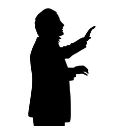 choral music conductor vector image vector image