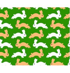 jumping rabbit seamless pattern vector image vector image