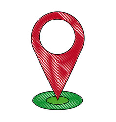 pointing map navigation gps location vector image vector image