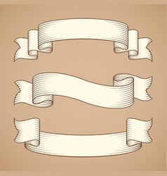 vintage ribbon banners vector image vector image