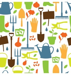 Background with garden design elements and icons vector image vector image