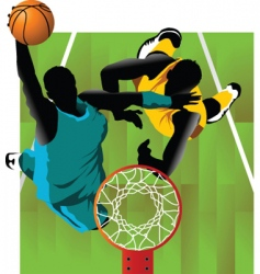basket and ball vector image vector image