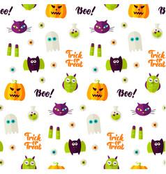 boo halloween seamless pattern vector image