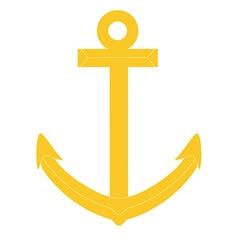 Gold anchor vector image vector image