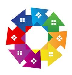 Houses around logo vector image vector image