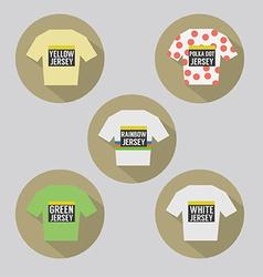 Modern Flat Design Cycling Jersey vector image