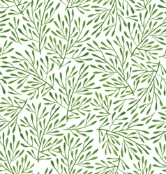seamless pattern with green vector image