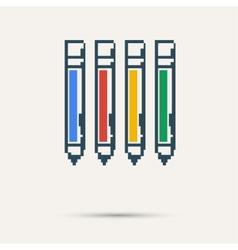 Simple stylish pixel icon handle design vector image