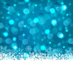 winter frozen snowflakes background with copy vector image vector image