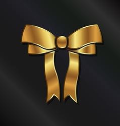Golden Bow Logo vector image vector image