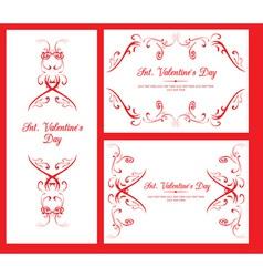 Valentine decorative cards vector image vector image
