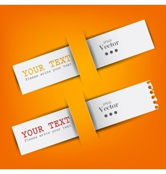 white paper bookmarks with place for text vector image vector image