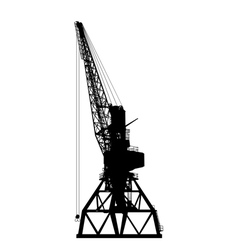 building crane silhouette vector image vector image