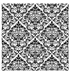 Floral damask pattern vector image vector image