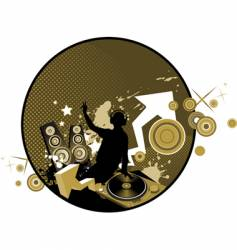 mixing music concept vector image vector image