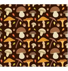 mushroom flat seamless vector image vector image
