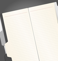 Note-book vector image vector image