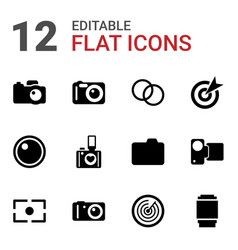 12 objective icons vector