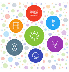 7 bright icons vector