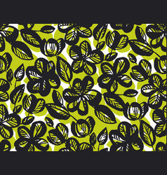 abstract tropical floral seamless pattern vector image