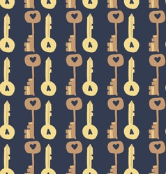 Adorable Love Keys seamless pattern vector