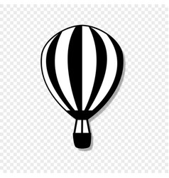 airship front view icon isolated on transparent vector image