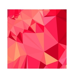 American Rose Red Abstract Low Polygon Background vector image