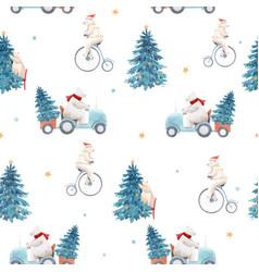 Beautiful christmas seamless pattern vector