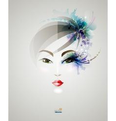 Beautiful woman design vector image
