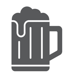 Beer glyph icon drink and alcohol lager sign vector