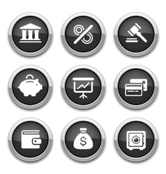 black finance buttons vector image